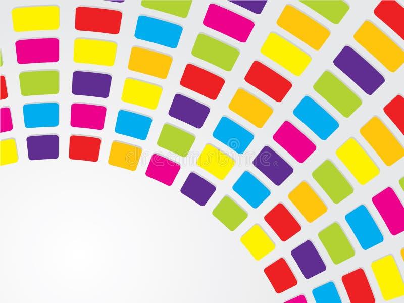 Colores frescos con el texto ilustración del vector