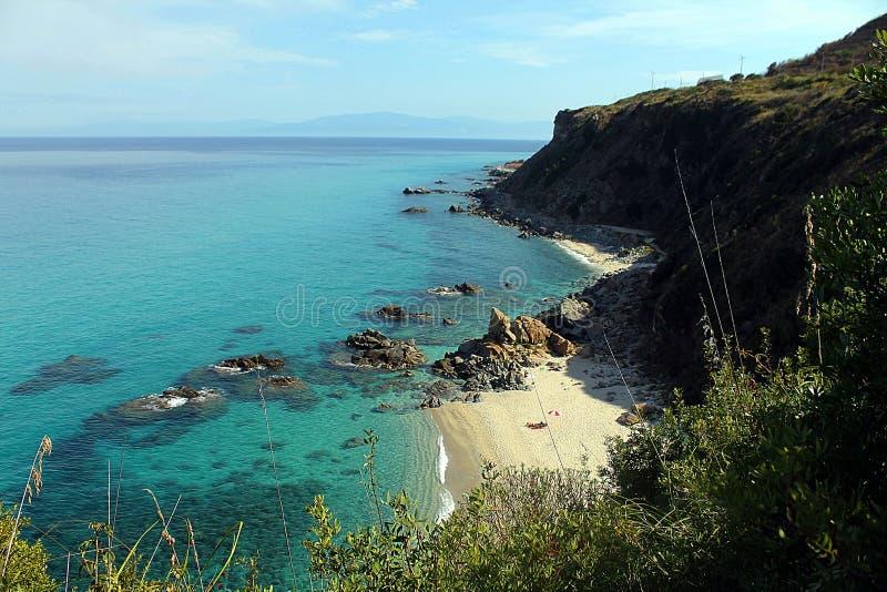 Colores hermosos de las costas del ` s de Calabria fotografía de archivo libre de regalías