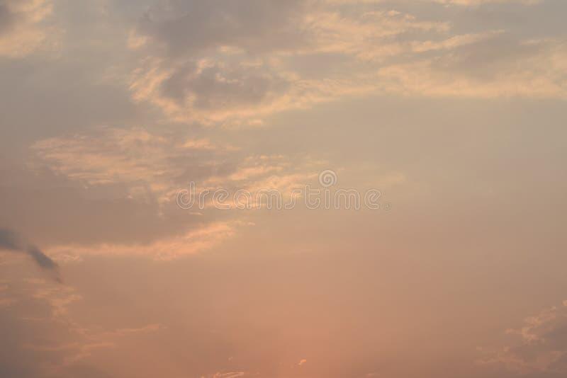 Colores impresionantes del cielo fotos de archivo