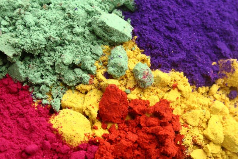 Colores indios del holi fotografía de archivo libre de regalías