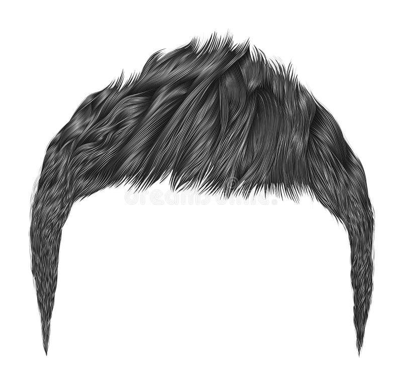 Colores negros morenos de los pelos de moda franja del kare fashio de la belleza libre illustration