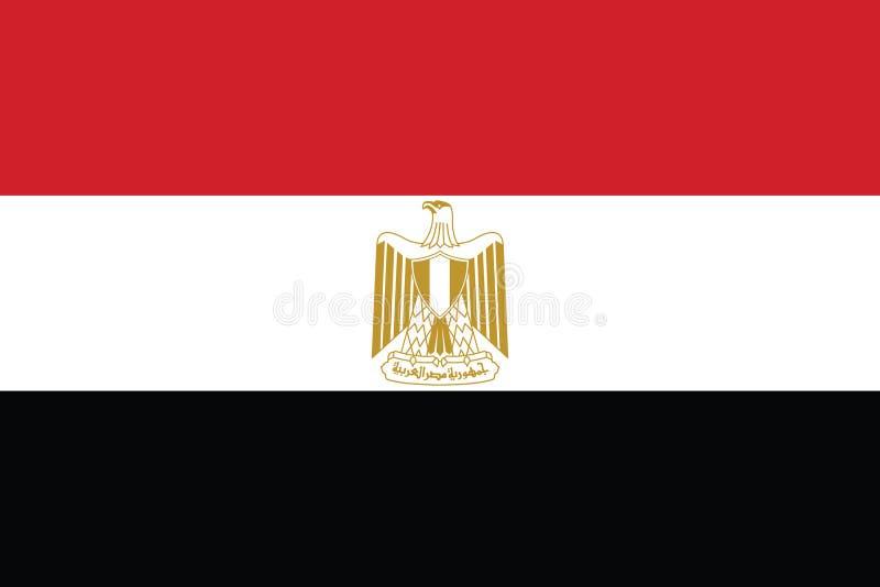 Colores oficiales y proporción de la bandera nacional de Egipto correctamente Ejemplo nacional del vector de la bandera de Egipto ilustración del vector