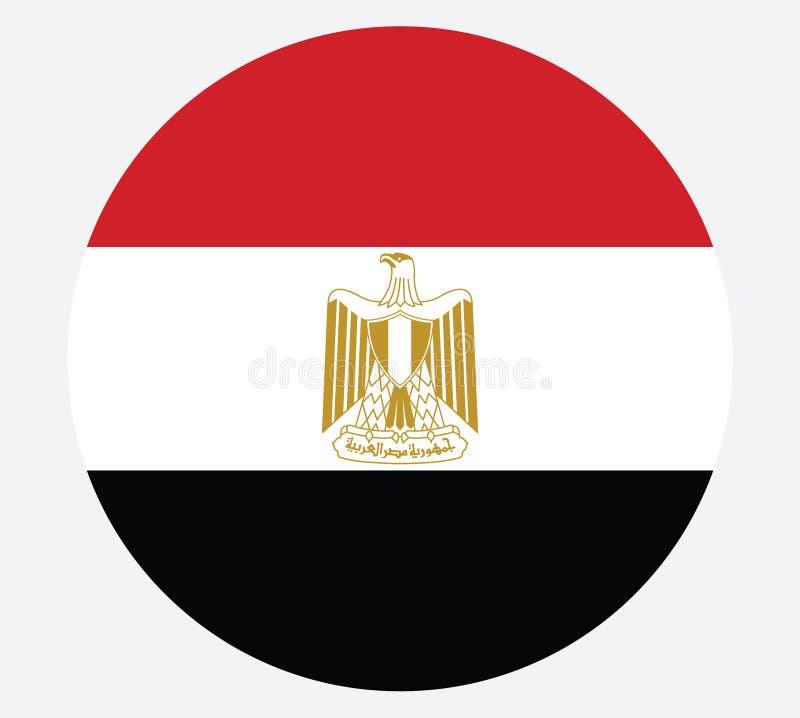 Colores oficiales y proporción de la bandera nacional de Egipto correctamente Ejemplo nacional del vector de la bandera de Egipto libre illustration