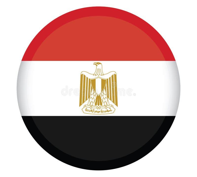 Colores oficiales y proporción de la bandera nacional de Egipto correctamente Ejemplo nacional del vector de la bandera de Egipto stock de ilustración