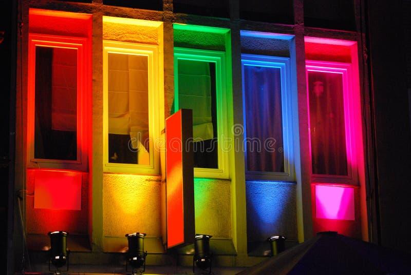 Colores prismáticos, buildung arco iris-coloreado fotos de archivo libres de regalías