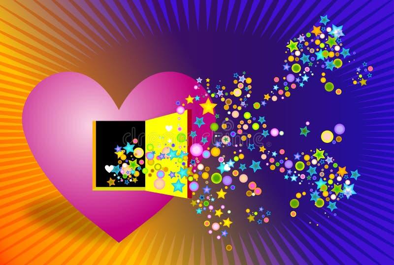 Colores que vienen de corazón stock de ilustración