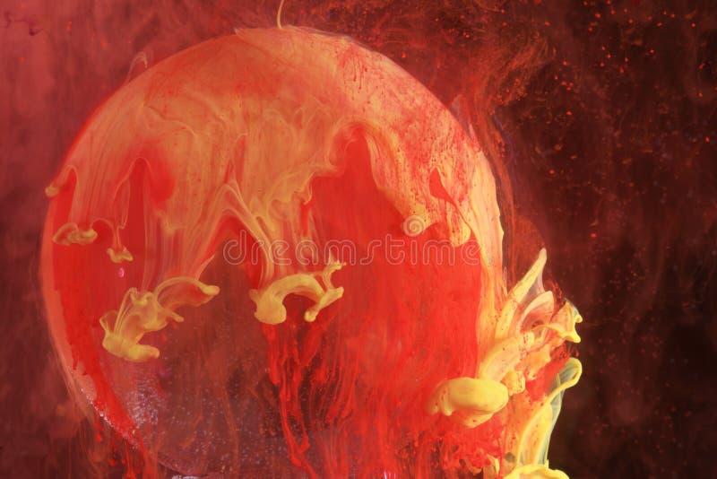 Colores rojos y amarillos abstractos imagen de archivo libre de regalías