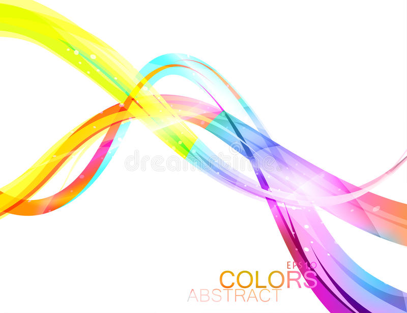 Colores translúcidos en un fondo blanco libre illustration
