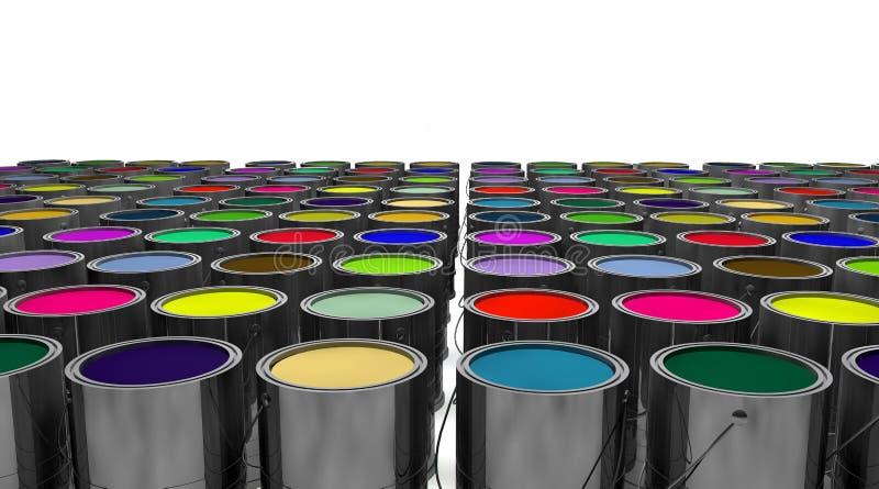 Colores variados ilustración del vector