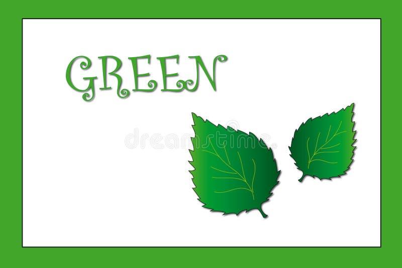Colores: verde stock de ilustración