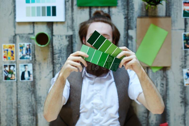 Colores verdes imagen de archivo libre de regalías