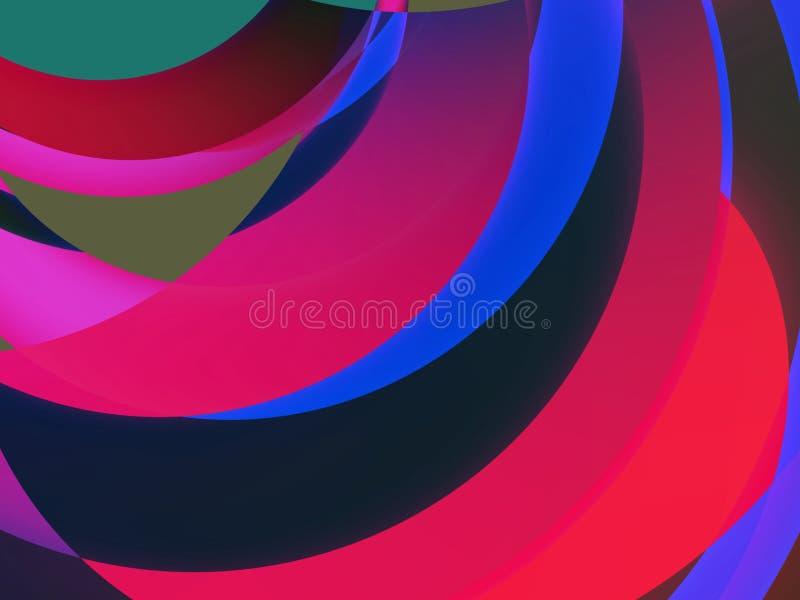 Colores y dimensiones de una variable II ilustración del vector