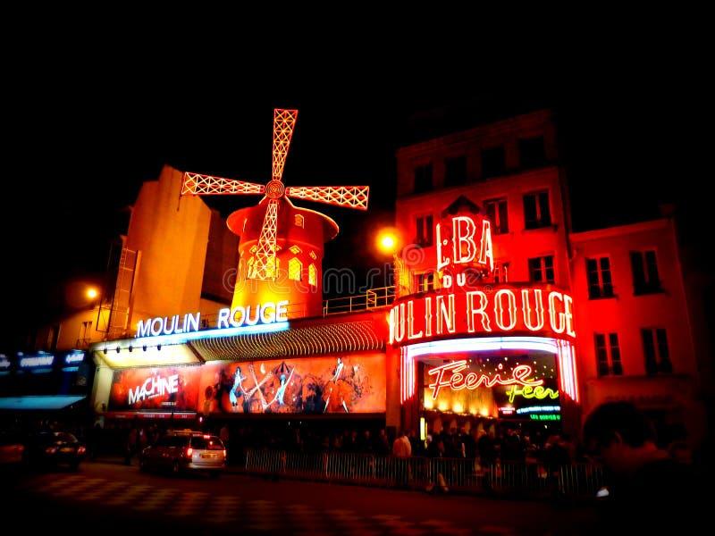 Colorete de Moulin, París imagen de archivo