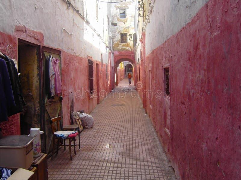 Colorete de Ruelle, DES Oudayas ( de Kasbah; Rabat, Maroc) fotografía de archivo
