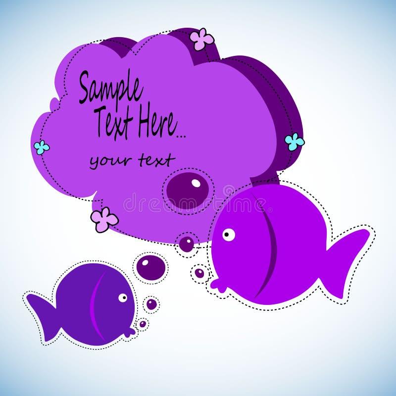 Colorez l'activité de dessin de poissons Le jeu éducatif pour l'école maternelle a vieilli des enfants, thème d'animaux Activité  illustration libre de droits