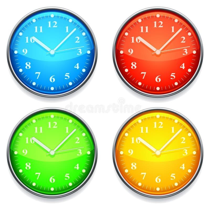 Colorez l'horloge. illustration de vecteur