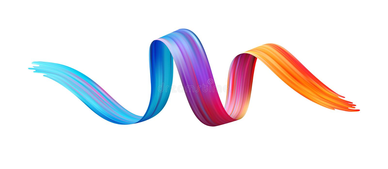 Colorez l'huile de traçage ou l'élément de conception de peinture acrylique Illustration de vecteur illustration de vecteur