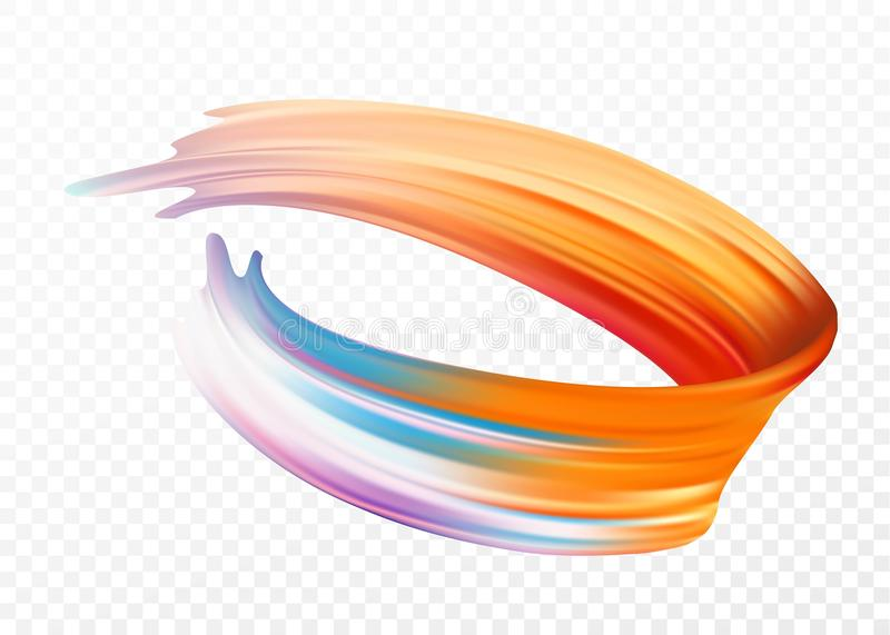 Colorez l'huile de traçage ou l'élément de conception de peinture acrylique pour des présentations, des insectes, des tracts, des illustration stock