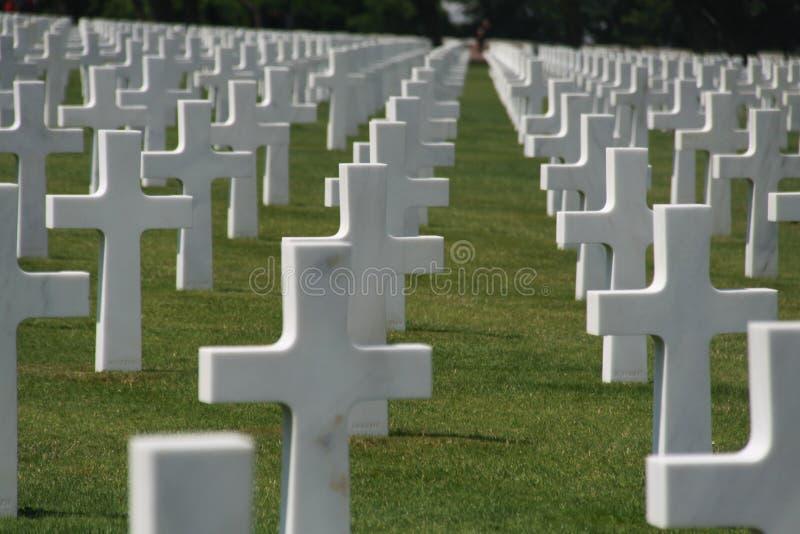 Colorez l'image des tombes de guerre des USA dans les Frances photo stock
