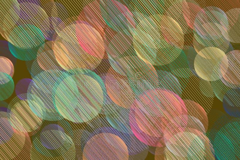 Colorez la ligne aléatoire malpropre abstraite fond génératif d'art de modèle géométrique de cercles Dessin, Web, décoration et c illustration libre de droits