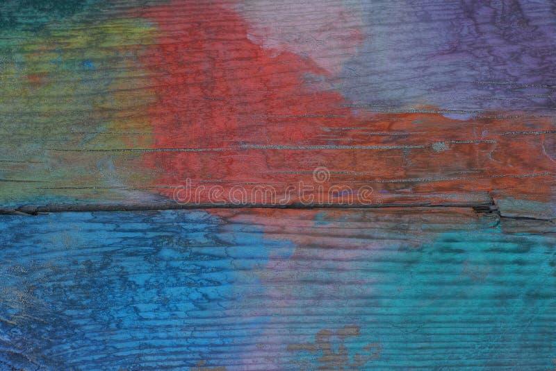 Colorez la texture en bois d'un vieux conseil photographie stock