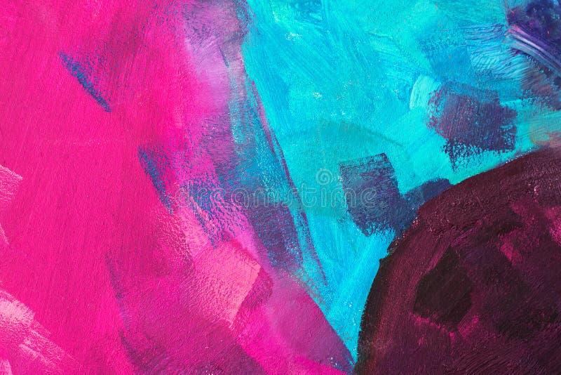 Colorez la toile avec des peintures à l'huile image libre de droits