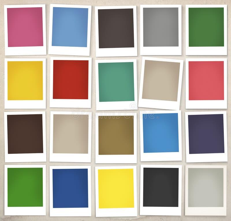 Colorez le concept coloré de peinture de conception de palette d'échantillons photo stock