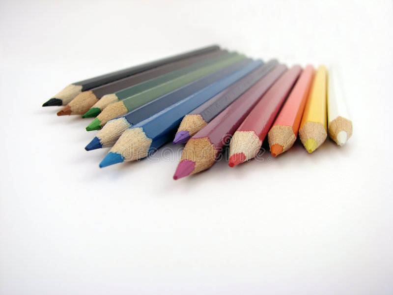 Colorez le crayon photographie stock