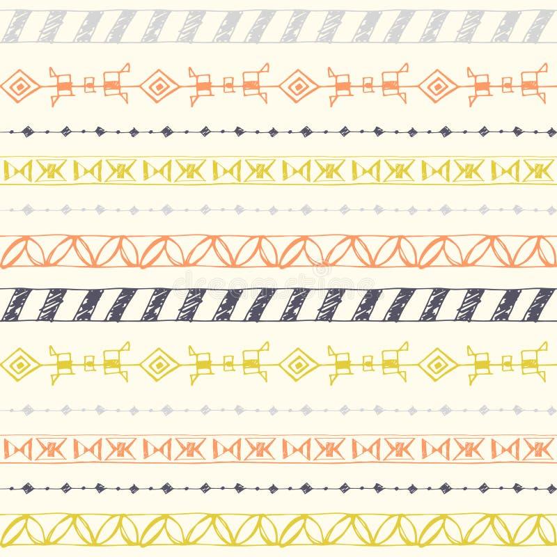 Colorez le modèle sans couture de vecteur tribal illustration de vecteur