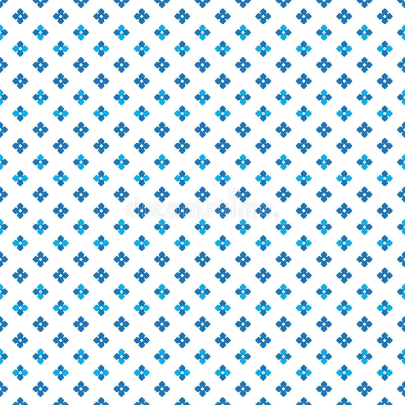 Colorez le petit modèle de points mignon dense bleu de fleur illustration de vecteur