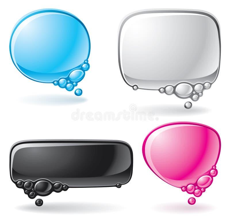 Colorez le positionnement de bulle de la parole illustration libre de droits