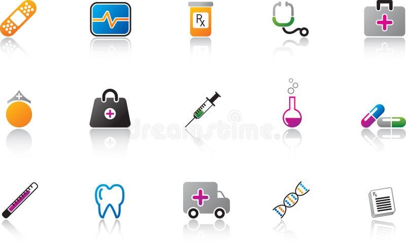 colorez le positionnement médical de graphisme illustration libre de droits
