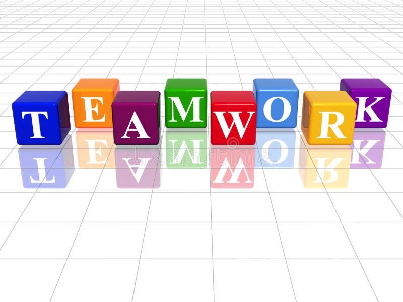 Colorez le travail d'équipe illustration de vecteur