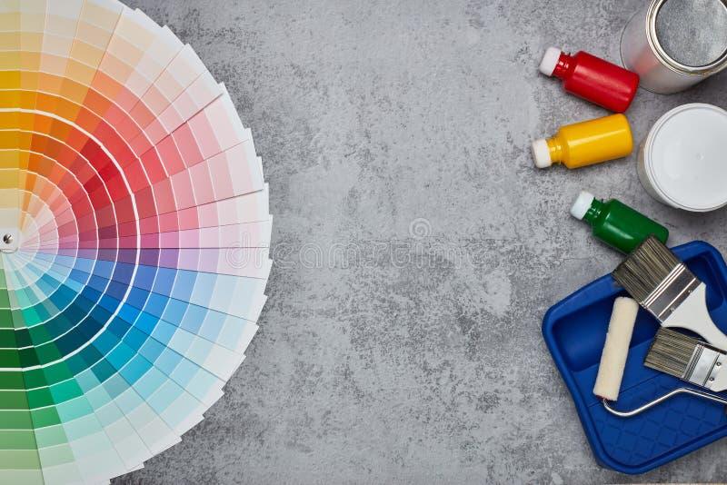 Colorez les ?chantillons, peignant des accessoires photo stock
