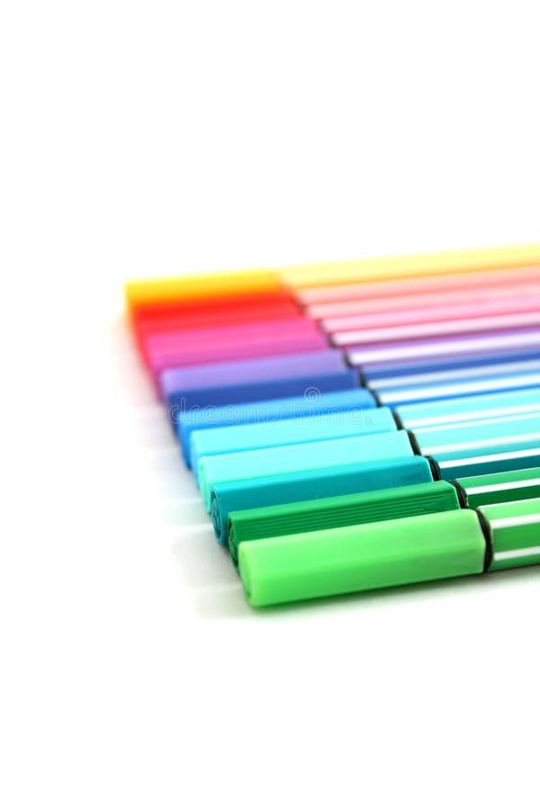 Colorez les crayons lecteurs photos libres de droits