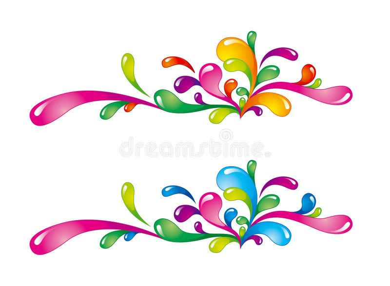 Colorfil Spritzt Stockfoto