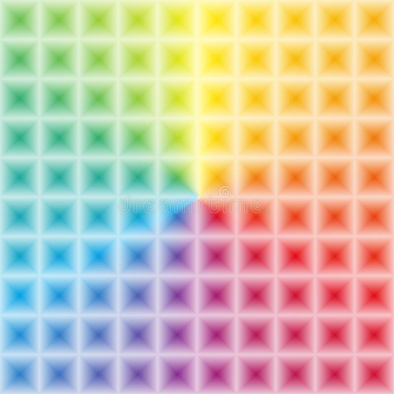 Free Colorfoul Rainbow Gradient With 3d Illusion Effect Square Light Stock Photos - 91605133