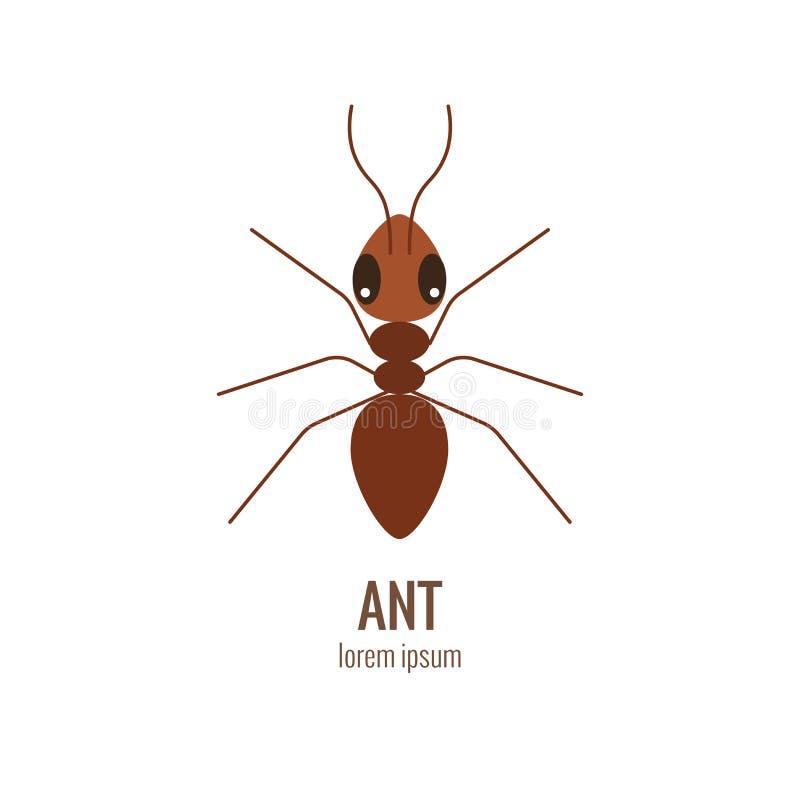 Colorfu kreskówki mrówki logo ilustracji