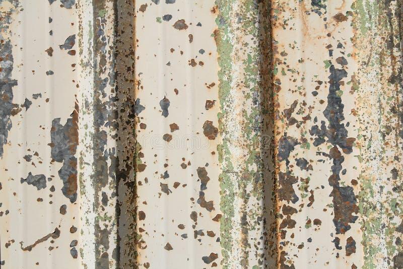Colorfu rostigt metallark arkivbild