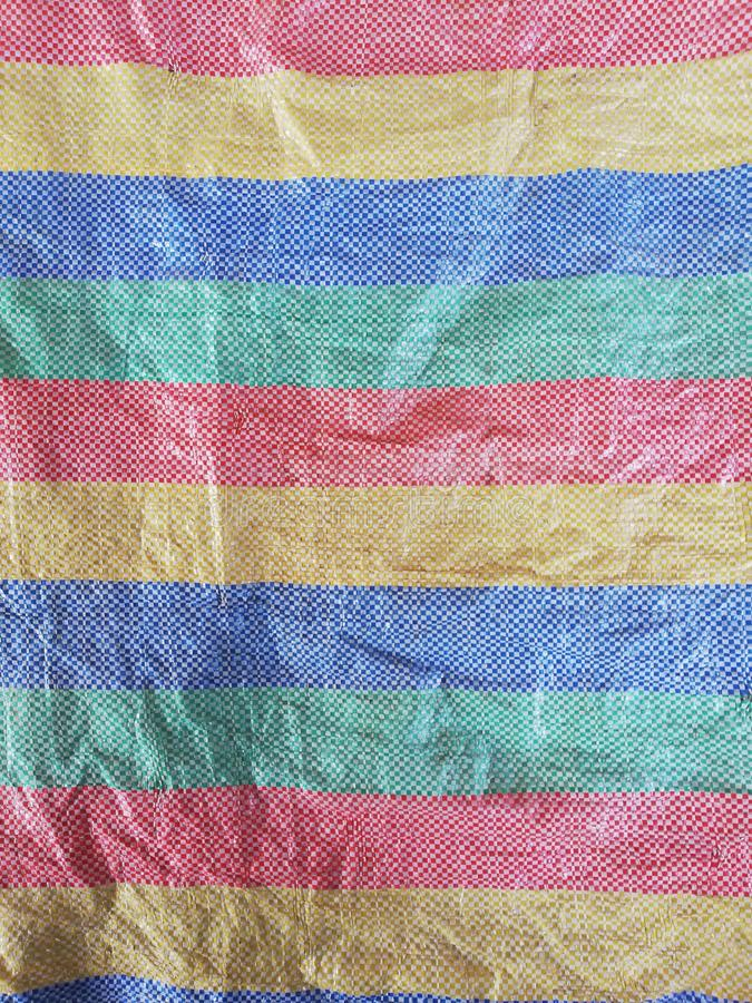 Colorful plastic woven sack texture royalty free stock images