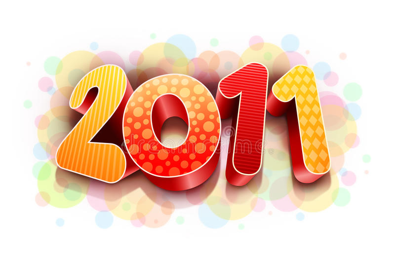 Download Colorful 2011 stock illustration. Image of decoration - 17145317