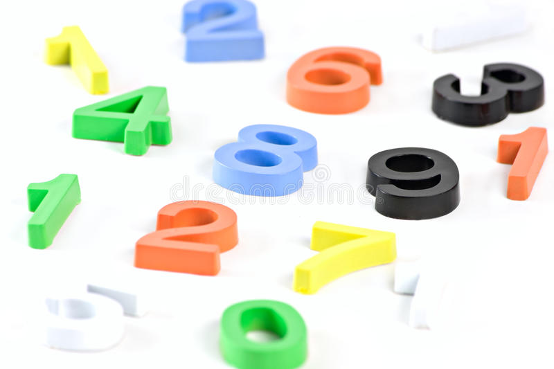Colorful 3d plastic numbers royalty free stock photo