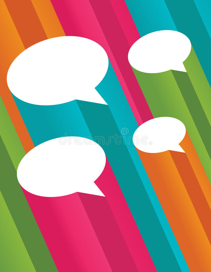 Colorful 3D Speech Bubbles royalty free stock photography