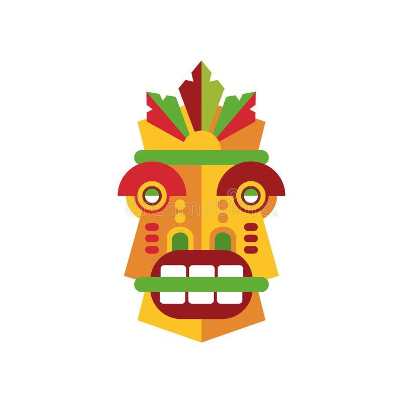 Colorful aborigine facial mask vector Illustration on a white background. Colorful aborigine facial mask vector Illustration isolated on a white background vector illustration