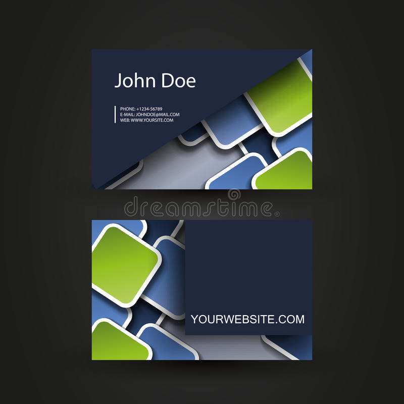 Business Card Template Royalty Free Stock Photo