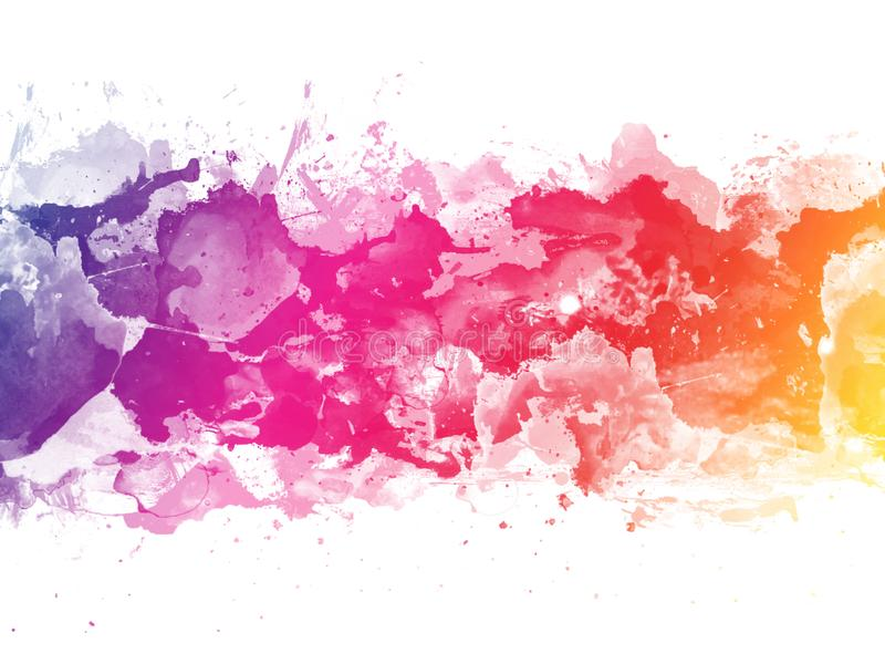 Colorful Abstract artistic watercolor splash background royalty free illustration