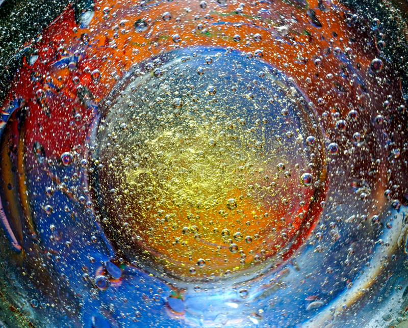 Beautiful colorful abstract background from bubbles stock image