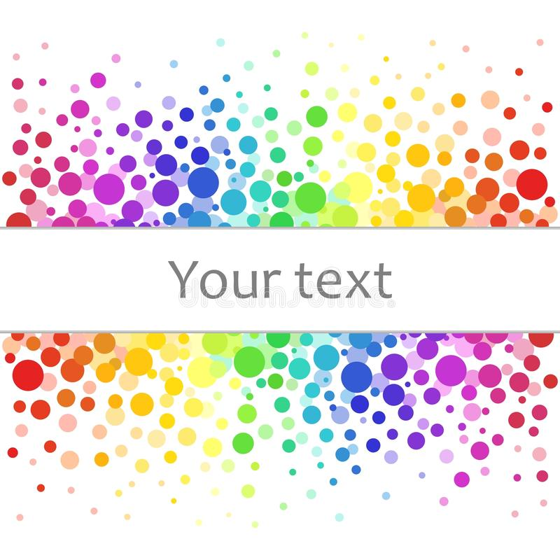 Free Colorful Abstract Background Of Colorful Dots, Circles With Place For Your Text. Stock Images - 106437444