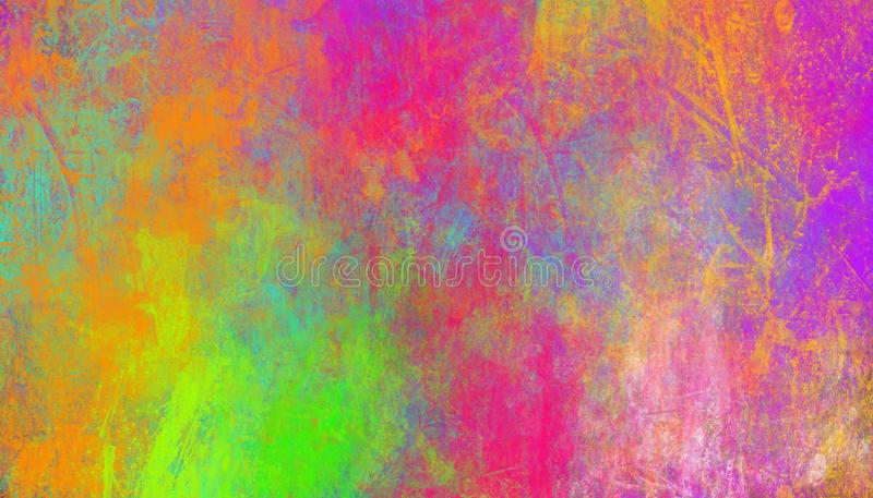 Colorful abstract background. Smears of multi-colored paints. Colorful abstract background. Smears of multi-colored paints- Illustration royalty free stock image