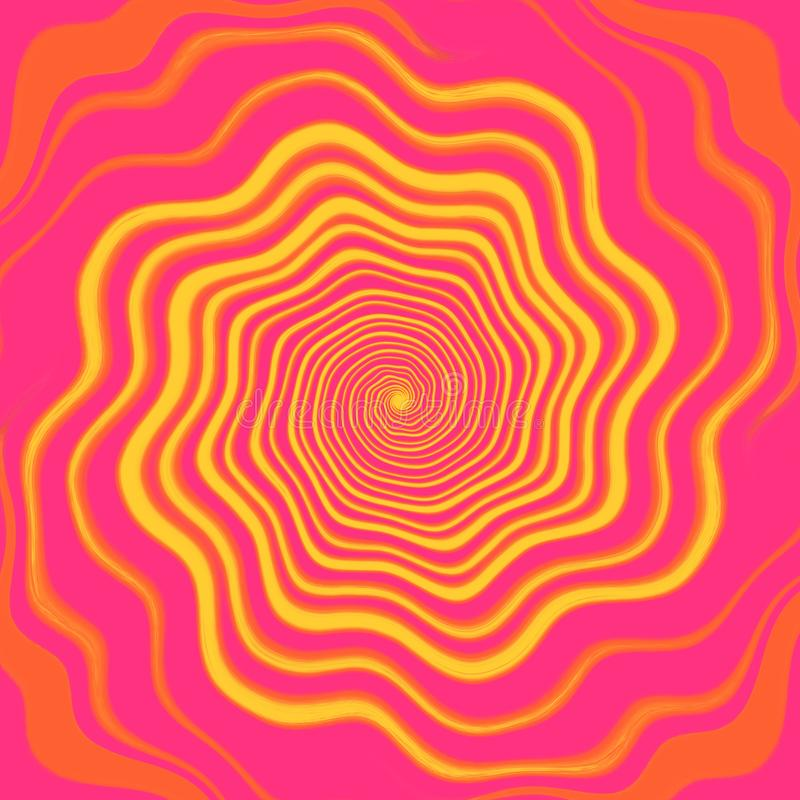 Colorful abstract art background, spiral pattern vector illustration